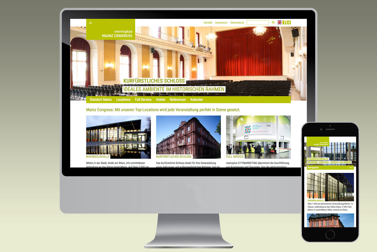 Website-Familie mainzplus CITYMARKETING