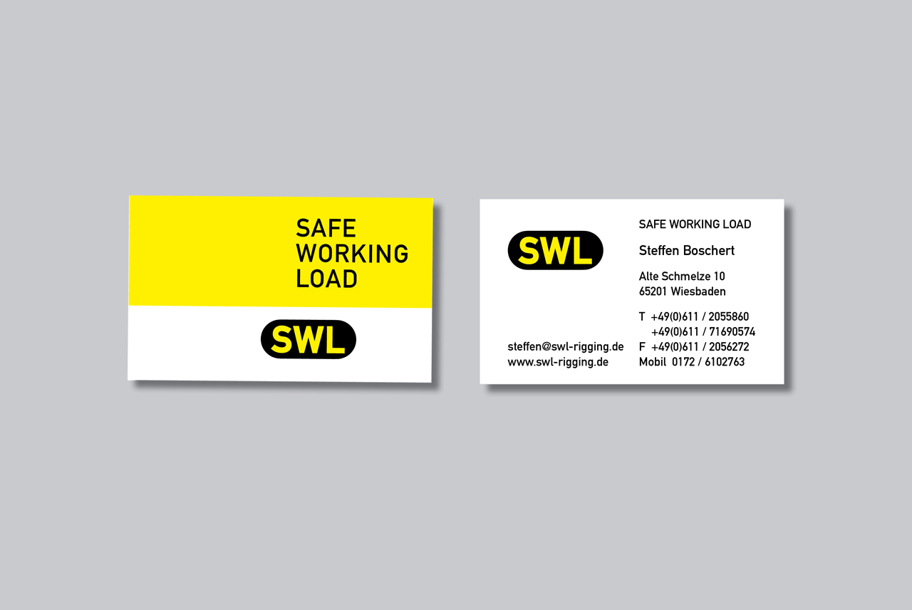 SWL Safe Working Load